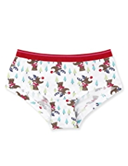 Cotton Rich Reindeer Print Shorts