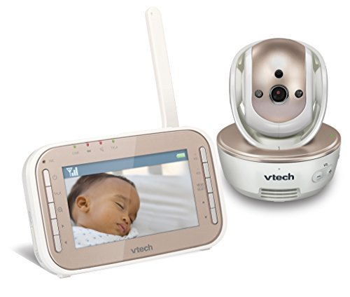 VTech VM343 Safe & Sound Video Baby Monitor with Night Vision, Pan/Tilt/Zoom and Two-Way Audio