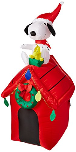 Gemmy-Peanuts-Snoopy-Airblown-Inflatable-4-Doghouse