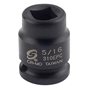 Sunex 310EPC 3/8-Inch Drive 5/16-Inch Female Pipe Plug Socket