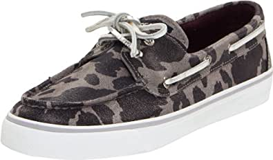 Sperry Top-Sider Women's Bahama Lace-Up Boat Shoe,Marble Cheetah,5 M US