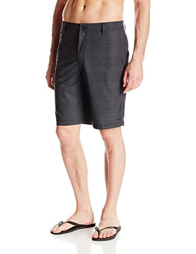 O'Neill Men's Insider Hybrid Boardshort, Black Charcoal - 34