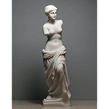 Aphrodite Venus De Milo Goddess of Beauty Alabaster Statue Sculpture Nude Female
