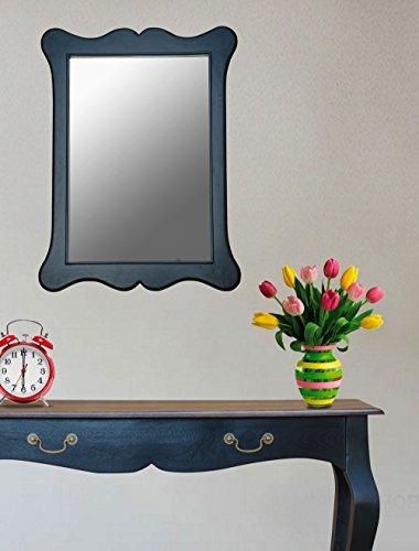 Framed Mirror In Walnut Finish By Furniselan