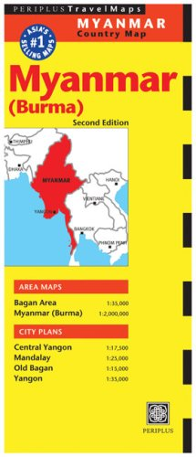 Myanmar Travel Map Second Edition (Periplus Maps)