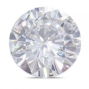 Moissanite Round Brilliant 7.5 mm 1.50 carats 57 facets FREE EXPRESS SHIPPING UPGRADE