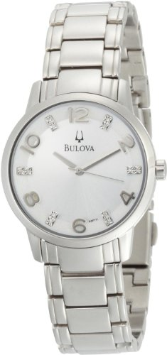 Bulova Women'S 96P111 Diamond Silver Dial Bracelet Watch