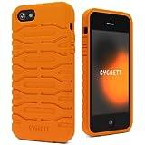 iPhone 5 & 5s Apple Case Bulldozer Silicon, Screen Protector - Canyon Orange, Cygnett