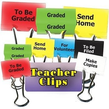 Top Notch Teacher Products TOP2303 Things To Do Teacher Clips 12Pk - 1