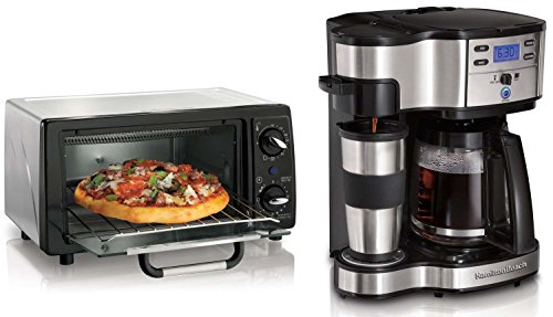 Hamilton Beach 6 Slice Toaster Oven & 12 Cup Digital Coffee Maker Kitchen Bundle (Toaster Oven Coffee Maker compare prices)