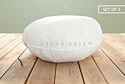 Urban Arts Set of 2 Pcs Round Cushion Fillers- 16 x 16 Inches