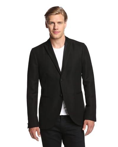 John Varvatos Collection Men's Peak Lapel 3 Button Cut Away Jacket