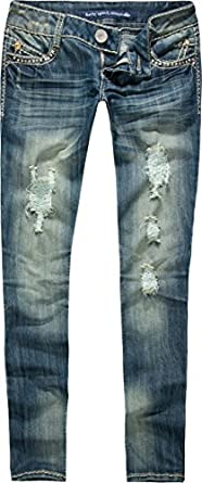 ALMOST FAMOUS Premium Back Flap Womens Skinny Jeans