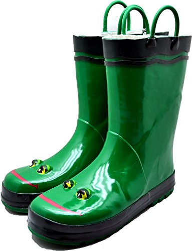 Toddlers Frogs Rain Coats Boots and Umbrellas