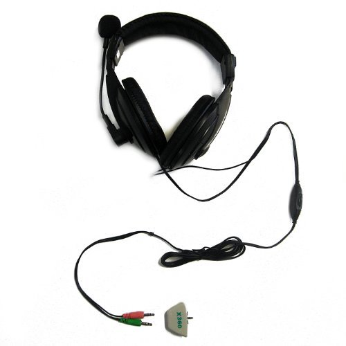 HDE Stereo Over Ear Pro Gaming Headset With Microphone For PC W/ In-Line Volume Control