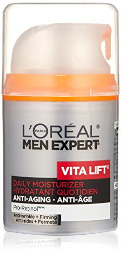 L'Oreal Paris discount duty free L'Oreal Paris Men's Expert Vita Lift Anti-Wrinkle and Firming Moisturizer, 1.6-Fluid Ounce