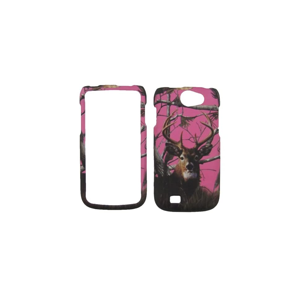 Samsung Exhibit II li 2 4G Galaxy W 4G SGH T679 T679M i8150 T MOBILE Phone CASE COVER SNAP ON HARD RUBBERIZED SNAP ON FACEPLATE PROTECTOR NEW CAMO PINK REAL TREE HUNTER BUCK DEER