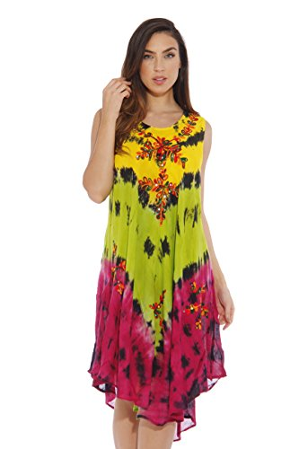 20598F-Print 1 Riviera Sun One Size Summer Dresses / Swimsuit Cover up