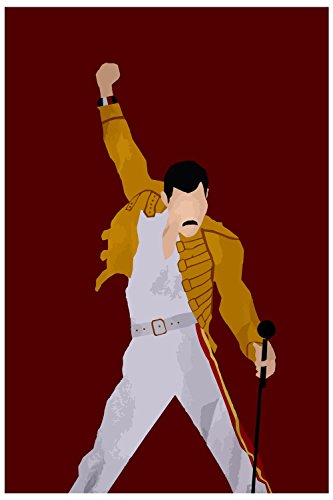 The Racoon Freddie Mercury Poster Laminated Glossy Finish, Medium (24 X 16 In)
