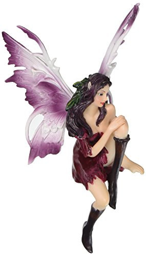 Design Toscano Amethyst the Fairy Sitting Sculpture