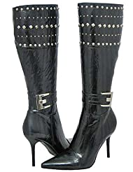 Italina 94174 Black Women Fashion Boots