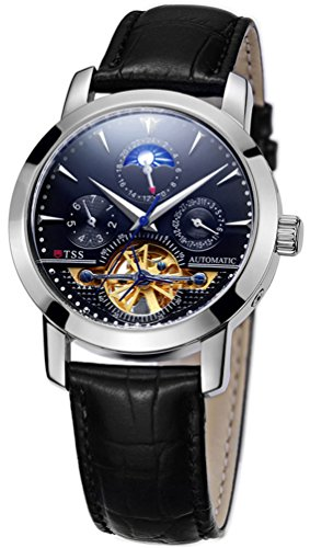 TSS-Mens-T8030PC2-Automatic-Skeleton-Moonphase-Watch-with-Leather-Band