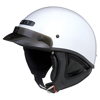 Gmax Adult GM65 Flat Black Graphic Half Shell Motorcycle Helmet Size /& Color