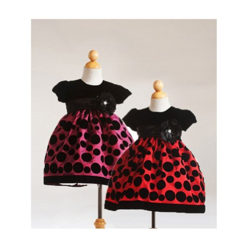 Crayon Kids Black/Red Bubbles Sleeveless Christmass Dress 4T front-544083