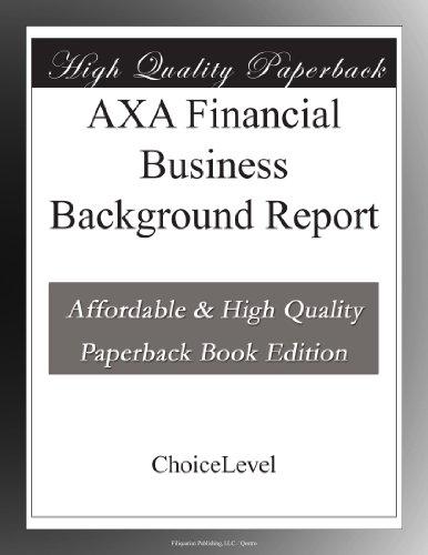 axa-financial-business-background-report