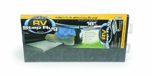 Camco 42925-X RV Wrap Around Step Rug, Grey