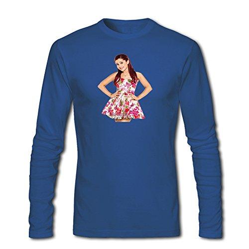 Ariana Grande logo long sleeve Tops T shirts -  Maglia a manica lunga  - ragazzo Blue L/9-10 Anni