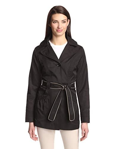 Laundry By Design Women's Contrast Piping Trench