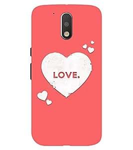Chiraiyaa Designer Printed Premium Back Cover Case for Moto G4 Plus (boy girl friend valentine miss kiss heart pink) (Multicolor)