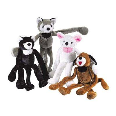 Brown Dog Tug-n-Squeak Bungee Toy