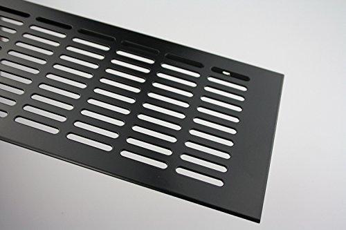 Grille De Ventilation En Aluminium Tôle ventilation 130 mm x 2000 MM En différentes Couleurs - Noir poudre-enduit