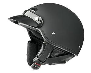 Raider Deluxe Open Face Helmet (Flat Black, Medium) from Raider