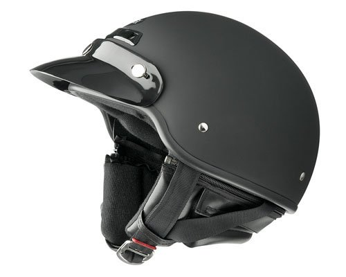 Raider Deluxe Helmet (Flat Black, Large)