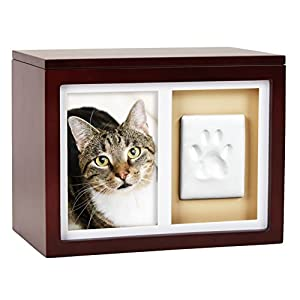 Pearhead Dog or Cat Pet Keepsake or Memorial, Espresso