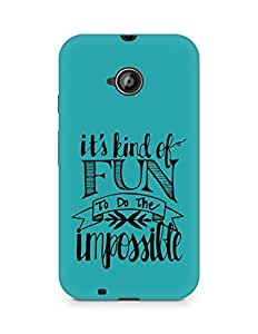 AMEZ its kind of fun to do the impossible Back Cover For Motorola Moto E2