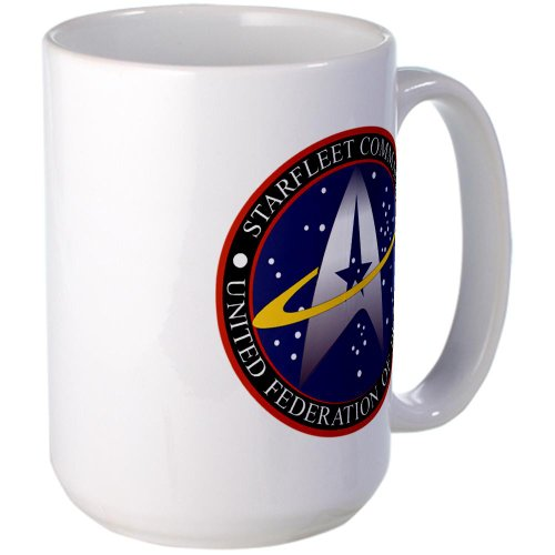 Cafepress Star Trek Starfleet Command Insignia Mug Large Mug - Standard
