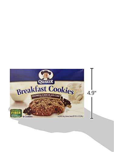 Quaker Breakfast Cookies Oatmeal Chocolate Chip, 6-Count ... Oatmeal Chocolate Chip Cookies Packaging