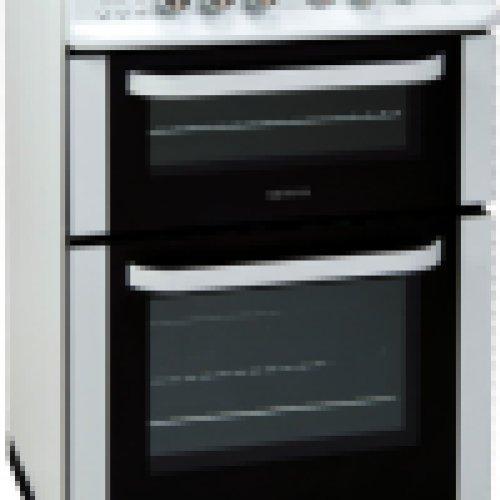 Servis DG60W 600mm Double Gas Cooker Minute Minder White