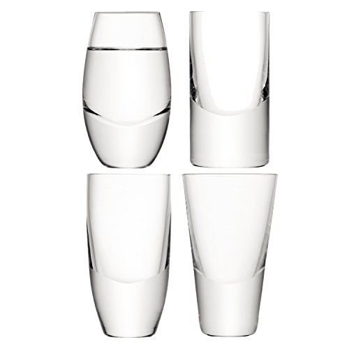 LSA International Lulu Assortis Vodka En Verre, Transparent (Lot de 4)