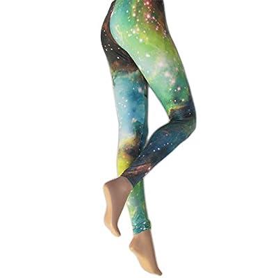 Silky Womens/Ladies Galaxy Printed Fashion Leggings (1 Pair)