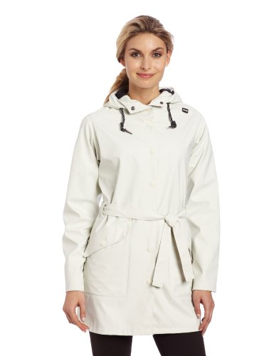 Helly Hansen Women's Kirkwall Rain Coat, Eggshell, X-Small