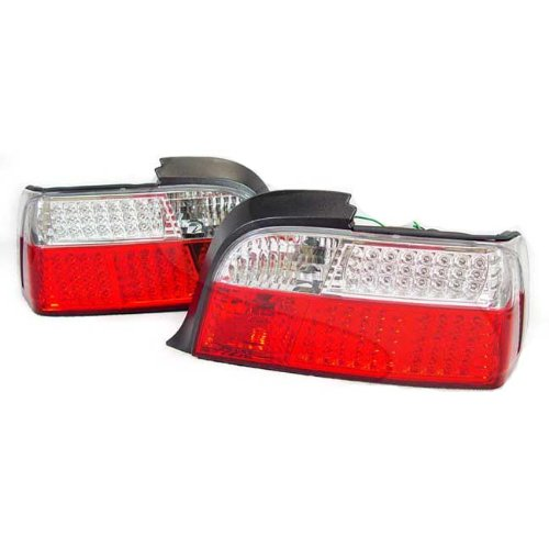 1992-1999 Bmw E36 3 Series 2 Door Depo Full Led Red/Clear Tail Light