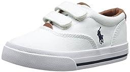 Polo Ralph Lauren Kids Vaughn II EZ Fashion Sneaker (Toddler), White, 7 M US Toddler