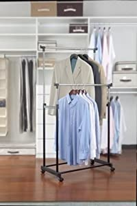Hold N Storage Kennedy Home Collections Adjustable Garment Rack - 2 Tier at Sears.com