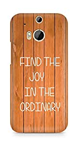 AMEZ find the joy in the ordinary Back Cover For HTC One M8