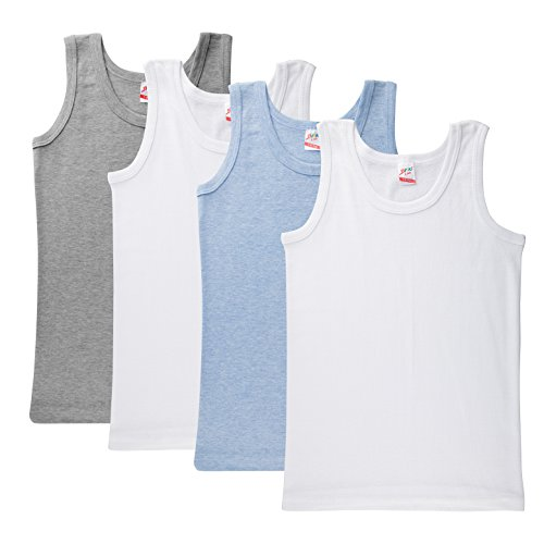 Kids by Brix Boys Ultra Soft Turkish Cotton Value pack Tank Tops Undershirts 4 pack. (7/8 years)